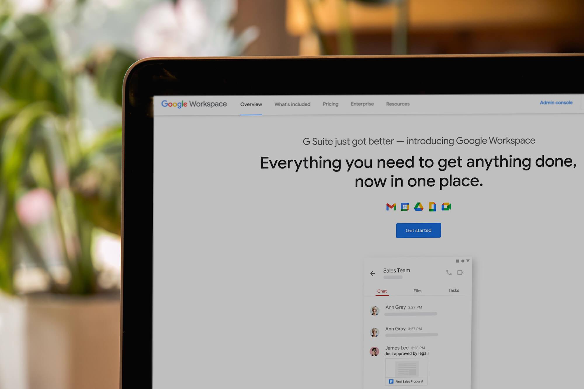 G Suite ändrar namn till Google Workspace